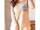2014秋冬新款大码胖MM 彩色加厚毛衣套头中长款打底毛衣