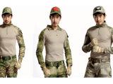 批发美军CS特种兵作训长袖上衣 特战青蛙紧身复刻套服