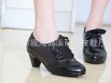 2013新款单鞋真皮深口女鞋中跟系带女鞋职业鞋女正装皮鞋厂家直销