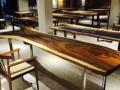 厂批南美胡桃木乌金木原生态办公桌餐桌实木家具