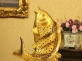 廠家直銷 仿古樹脂工藝擺件 富貴鯉魚 喬遷禮品