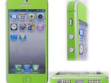 【清仓】苹果5全身贴膜 iphone炫彩保护贴膜 彩色皮纹混搭贴