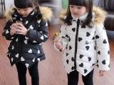 女童新款冬天加厚棉服 可爱毛领 中大童女童棉服微信商一手货源