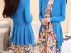2014夏季新款韩版荷叶边收腰设计显瘦针织披肩女装开衫防晒衫