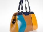 wpkds新款时尚真皮女包 单肩包斜跨欧美潮流女士包 拼色手提包