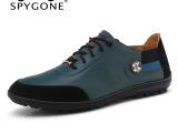 厂家直销 新款男士真皮鞋子 英伦潮鞋休闲韩版单鞋系带低帮鞋单鞋