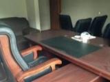 豪华老板桌 真皮老板椅 横矮柜 小柜