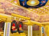古建寺庙吊顶彩绘新款环保PU材料防火防潮观景酒店装修厂家直销