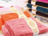 一高含量兔羊毛袜 粗针彩色手工无骨袜子厂