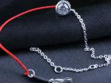 倍美银饰  单钻红绳手链 众多明星同款 简约中国风百搭不过时