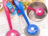 带手柄钢丝刷 钢丝球刷 清洁锅刷 洗锅刷可拆换日用批发