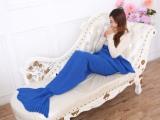 外贸批发美人鱼毯子针织毛线毯人鱼尾巴毯子