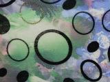 厂家批发 环保服装薄纱韩国网面料 精美烫金复合面料韩国网植绒