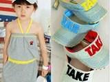 新款童帽春夏款 TAKE男童宝宝牛仔空顶帽子儿童太阳帽亲子帽韩版
