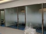 专业办公室厂房玻璃隔断贴膜磨砂膜隔热防晒膜安装