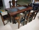 老船木茶桌批发 实木仿古茶几 中式船木茶台