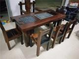 沉船木阳台休闲茶桌椅组合实木功夫户外小茶台船木仿古茶
