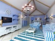 龙发装饰 蓝,白色彩的地中海风格