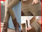 2013冬装新款OL风加绒加厚休闲裤 大码修身靴裤小脚裤子女D1020