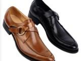 外单英伦尖头牛皮男鞋商务正装皮鞋不褪色搭扣男鞋鞋春秋男鞋37码
