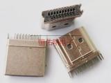 HDMI 19P A TYPE高清插头夹板1.6mm公头镀镍