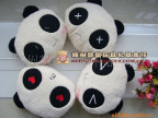 新款熊猫暖手捂 叉叉眼 笑脸 表情熊猫靠垫/靠垫情侣抱枕一件代发
