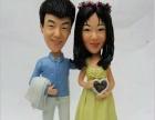 结婚双人软陶立体公仔,立体结婚雕塑,较的纪念