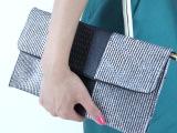 女手包2014新款欧美潮女手拿包女牛皮竖条斜挎晚宴包复古小包包