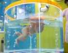 衢州全透明组装式钢化玻璃婴幼儿游泳池彩灯泡泡池