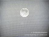 厂家批发供应全涤细小格子黑白色织布里料里布里子布面料格子布