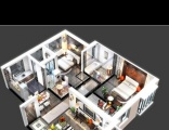 平面图3D效果图建模建筑CAD等