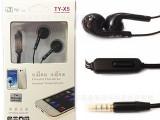 听涯手机带麦耳机 水晶线耳机 平耳耳塞 TY-X5 一箱50个