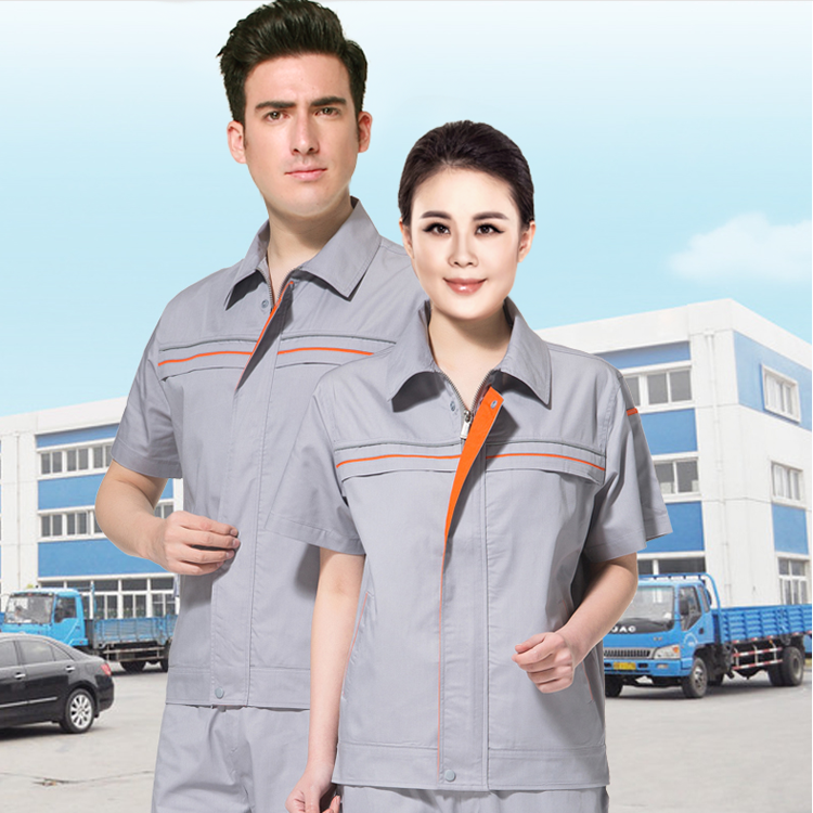青岛胶州工作服定做 夏季短袖 舒适透气国梦工装