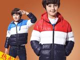 儿童棉服2014冬装新款加厚保暖棉衣男童岁少年连帽棉袄潮