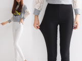 2015秋季新款韩版外穿打底裤女式休闲裤铅笔小脚裤中高腰长裤