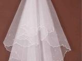 1.5米头纱 珍珠头纱 月牙边头纱新娘头纱ts01