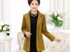 2015韩版中老年女装秋冬装毛呢外套 妈妈装大码风衣翻领爆款热卖