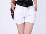 夏季韩版修身纯棉短裤女式白色显瘦 多色可选 批发 厂家直销