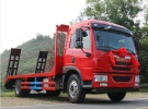 解放龙V单桥挖机平板运输车 带爬梯拉18吨挖机面议
