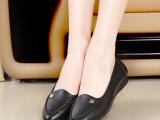 厂家直销头层牛皮女鞋新款百搭平底单鞋简约浅口尖头鞋手工妈妈鞋