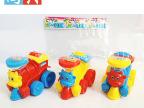 厂价批发可装糖玩具卡通回力拉线车小火车新