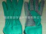 绿色特殊花园手套 长款园林专用pvc防滑耐磨手套型号:SK380