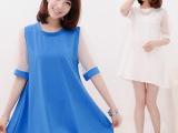 实拍!韩国孕妇装春装时尚新款泡泡袖宽松孕妇连衣裙娃娃款孕妇裙