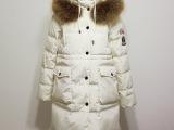 冬款HOTBUY 14YR-大口袋连帽貉子毛领徽章修身中长款羽绒
