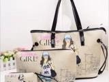 2013新款女包潮韩版母子包大中小三件套出游必备单肩包手提包包