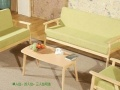 简约实木沙发小户型三人双人单人布艺小沙发木沙发