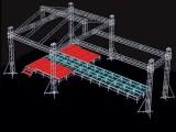 厂家直销舞台桁架,演出篷房,背景架,铝合金舞台太空架质量保证