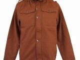 外贸原单日单男军版加厚棉布连帽立领常规款风衣上衣US