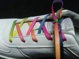 运动鞋鞋带彩印加工 儿童七彩鞋带热转印加工