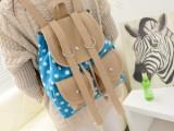 2014时尚秋季新款学院风波点双兜双肩背包  女包包 厂家直销代